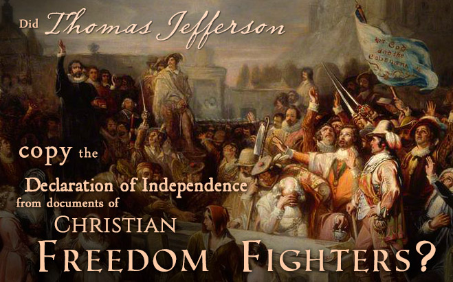 Did Thomas Jefferson copy the Declaration of Independence from documents of Christian Freedom Fighters? Go to josephsmithfoundation.org/wiki to learn more