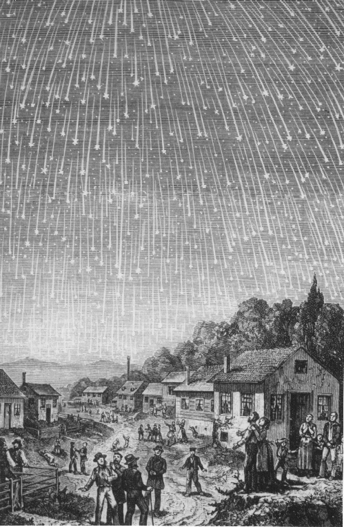 Leonid meteor shower of 1833