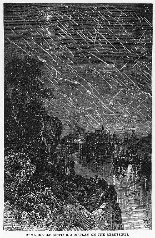 Image of the Leonid Meteor Shower of 1833